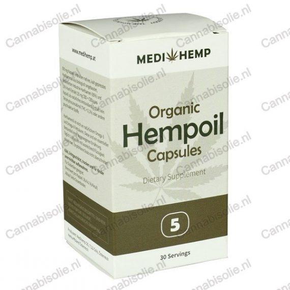 Medihemp capsules verpakking voorkant