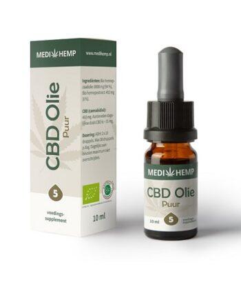 Medihemp CBD-olie (nootsmaak) 10 ml - 5% CBD
