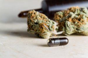 THC-olie in een capsule