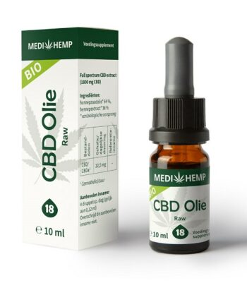 Medihemp CBD olie raw 10 ml 18 procent