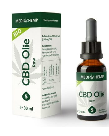 Medihemp CBD olie raw 30 ml 5 procent