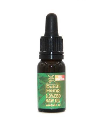 Dutchhemp-CBD-olie-raw-10-ml-8-procent-naturel