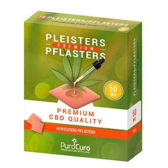 Premium CBD pleister van purocuro 50 mg 14 stuks