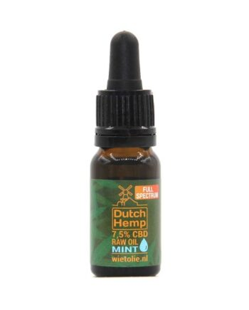 Dutchhemp-CBD-oil-raw-10-ml-7-5-pour cent-menthe