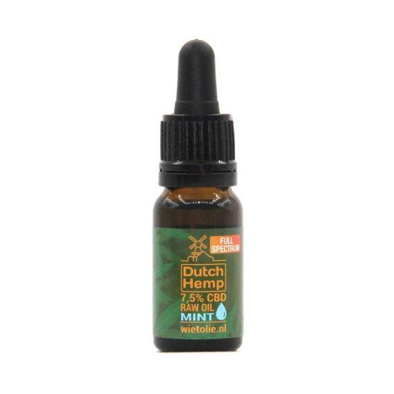Dutchhemp-CBD-olie-raw-10-ml-7-5-procent-mint