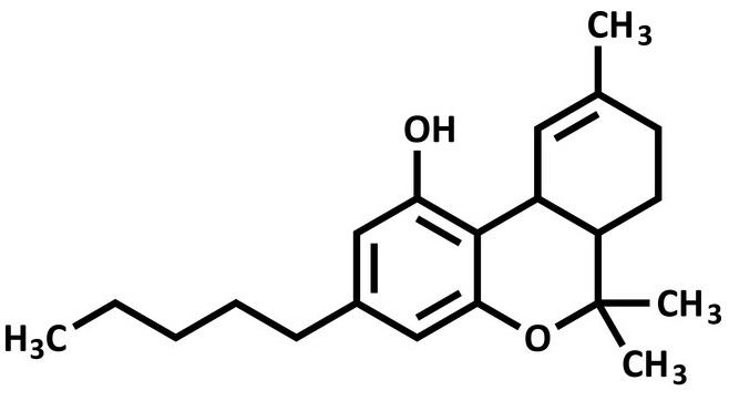 THC pleister THC molecule