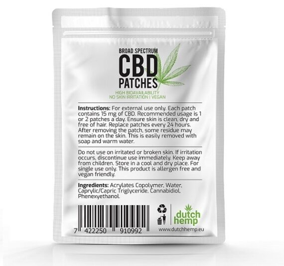 Dutch Hemp CBD pleisters 450 mg CBD 2