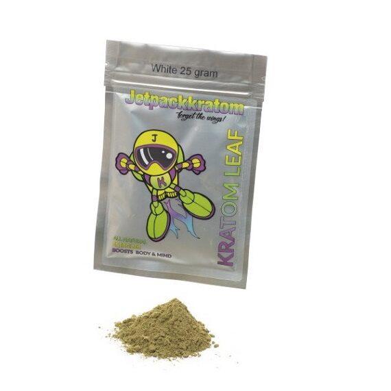 Jetpack kratom wit white vein 25 gram