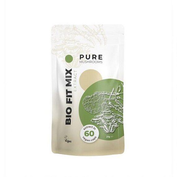 Pure Mushrooms - Bio Fit Mix paddenstoel capsules