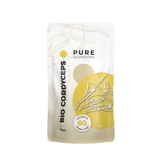 Pure Mushrooms Cordyceps paddenstoel capsules