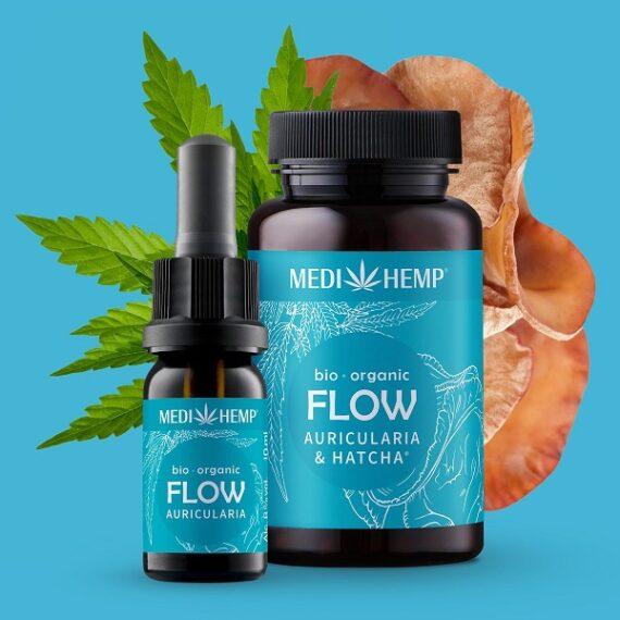 Medihemp Flow Auricularia & Hennep Bio 10 ml 1